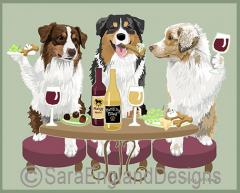Australian Shepherd Dog's WINEing