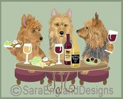 Australian Terrier Dog's WINEing