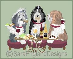 Bearded Collie Dog's WINEing