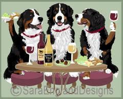 Bernese Mt Dog Dog's WINEing