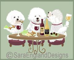 Bichon Frise Dog's WINEing