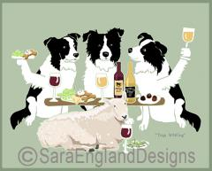 Border Collie Dog's WINEing