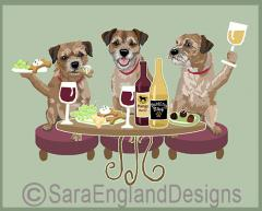 Border Terrier Dog's WINEing