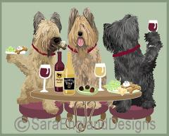 Briard Dog's WINEing