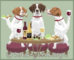 Brittany Dog's WINEing