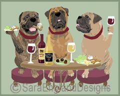 Bullmastiff Dog's WINEing