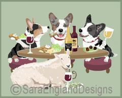 Cardigan Welsh Corgi Dog's WINEing