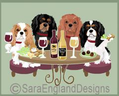 Cavalier King Charles Spaniel Dog's WINEing