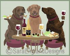 Chesapeake Bay Retriever Dog's WINEing
