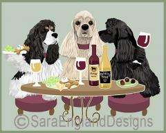 Cocker Spaniel Dog's WINEing