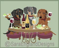 Dachshund Dog's WINEing
