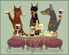 Doberman Dog's WINEing