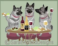 Norwegian Elkhound Dog's WINEing