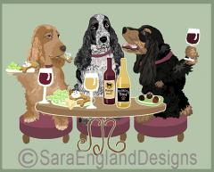 English Cocker Dog's WINEing