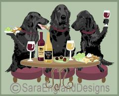 Flat Coated Retriever Dog's WINEing