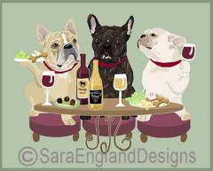 French Bulldog Dog's WINEing