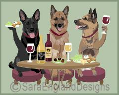 German Shepherd Dog's WINEing