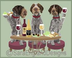 German Wirehaired Pointer Dog's WINEing