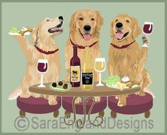 Golden Retriever Dog's WINEing