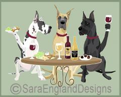 Great Dane Dog's WINEing