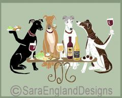 Greyhound Dog's WINEing