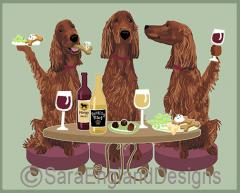 Irish Setter Dog's WINEing