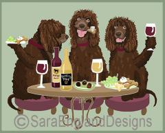 Irish Water Spaniel Dog's WINEing