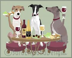 Italian Greyhound Dog's WINEing