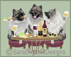 Keeshond Dog's WINEing
