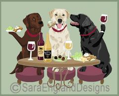 Labrador Retriever Dog's WINEing