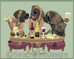 Mastiff Dog's WINEing