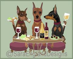 Miniature Pinscher Dog's WINEing