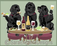Newfoundland Dog's WINEing