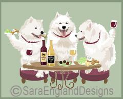 Samoyed Dog's WINEing