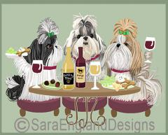 Shih Tzu Dog's WINEing