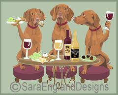 Vizsla Dog's WINEing