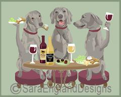 Weimaraner Dog's WINEing