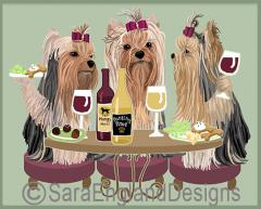 Yorkshire Terrier Dog's WINEing