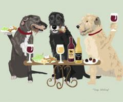 Irish Wolfhound Dog's WINEing