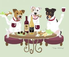 Jack Russell Terrier Dog's WINEing