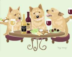 Norwich Terrier Dog's WINEing