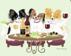 Papillon Dog's WINEing