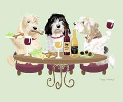 PBGV Dog's WINEing