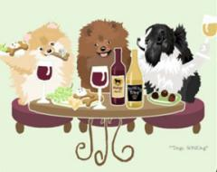 Pomeranian Dog's WINEing