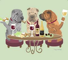 Shar Pei Dog's WINEing