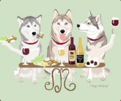Siberian Husky Dog's WINEing