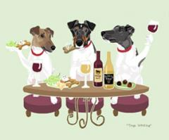 Smooth Fox Terrier Dog's WINEing