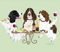 Springer Spaniel Dog's WINEing