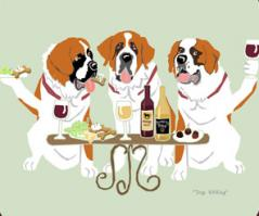 Saint Bernard  Dog's WINEing