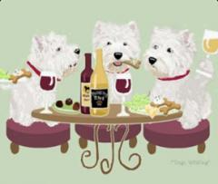 West Highland Terrier Dog's WINEing